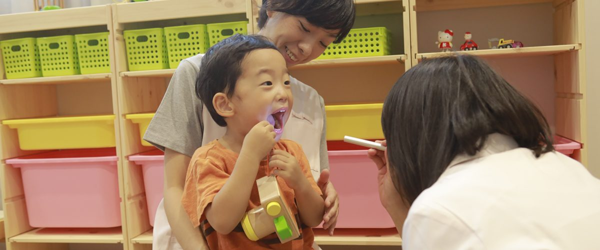 病児保育室での診察の様子